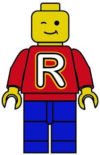 Lego Abc. Banderines para Fiesta de Lego.
