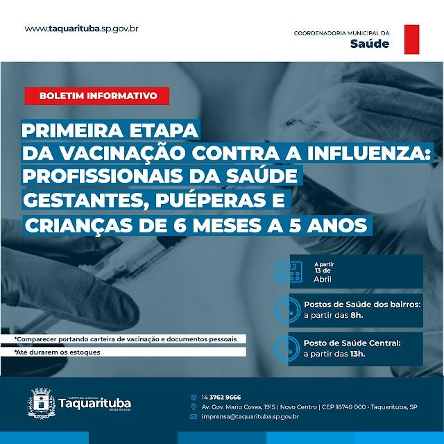 TAQUARITUBA INICIA vacinação contra influenza