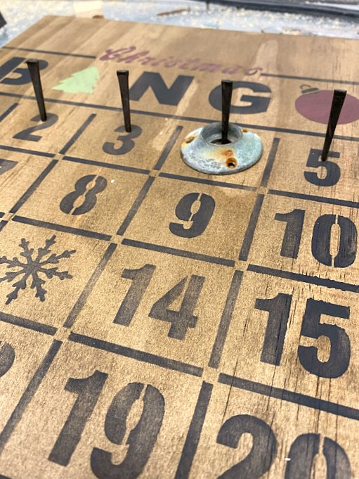 Rustic nail Bingo Advent Calendar
