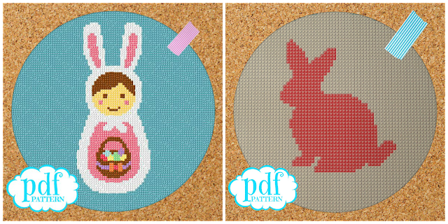 Free Easter Bunny cross stitch patterns