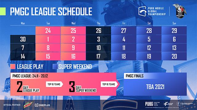 pmgc schedule