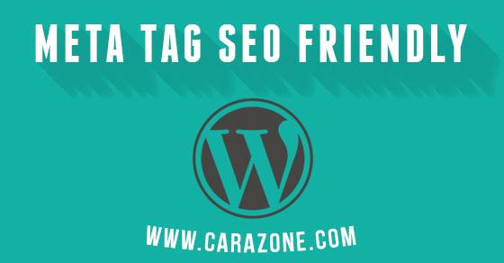 Cara Pasang Meta Tag Seo Friendly Wordpress Manual