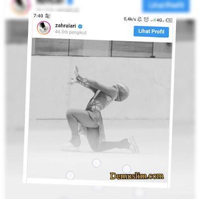 Kisah Zahra, Perempuan Muslim Pertama yang Lolos Ikuti Kompetisi Ice Skating Memakai Jilbab