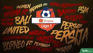 Klasemen Shopee Liga 1: Momen Persija, Persib, dan Persipura Seret Poin