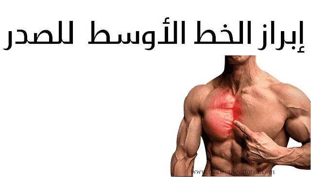 إبراز الخط الأوسط  للصدر