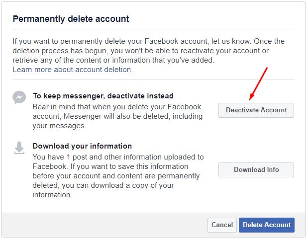 Facebook deactivate kaise kare