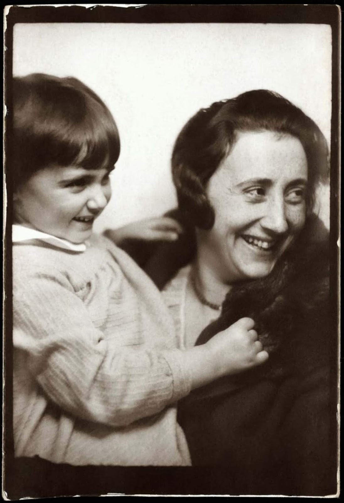 Anne Frank, with her mother, Edith, circa 1932-33.