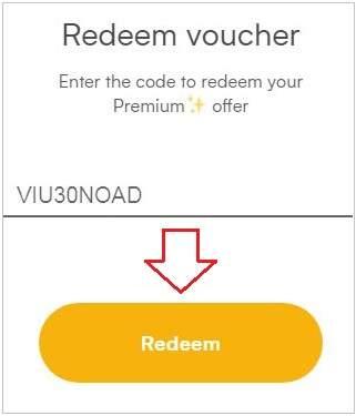 redeem promo code on viu app