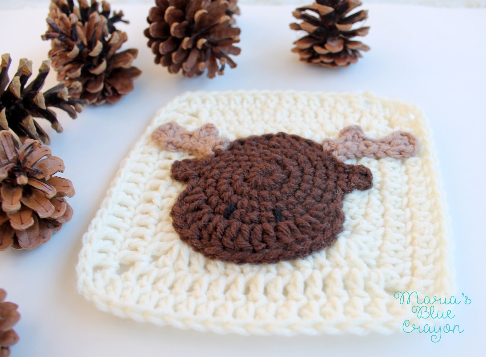 Moose Granny Square Woodland Afghan Series Free Crochet Pattern