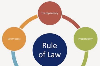 Pengertian Rule Of Law