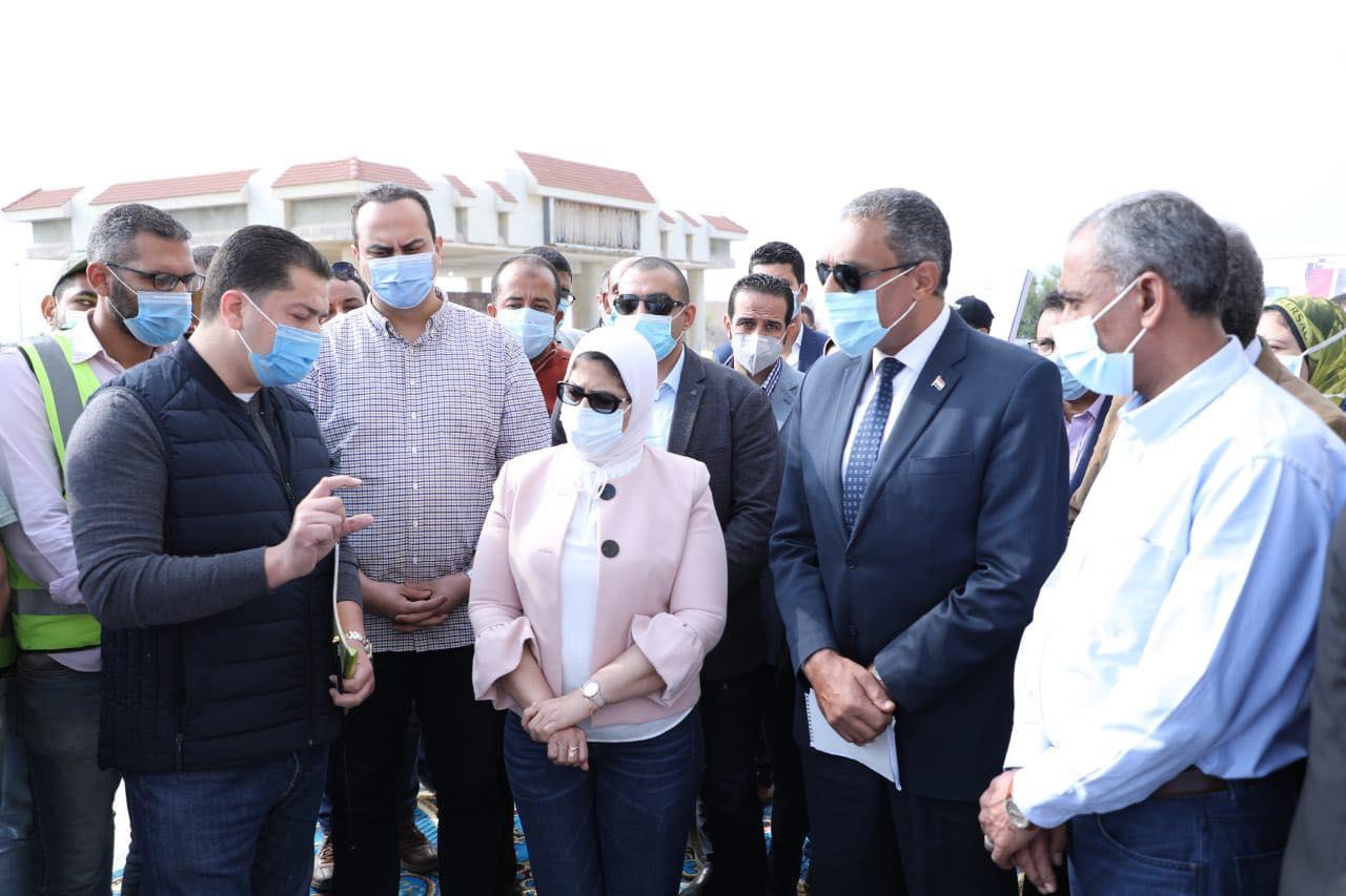 في إطار متابعة الاستعدادت النهائية للتشغيل التجريبي لمنظومة التأمين الصحي الشامل بمحافظة جنوب سيناء..