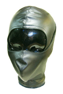 Espressivo Club Leather Bondage Hood with Mouth protect Mask