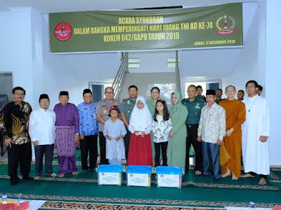 Irwasda Polda Jambi Hadiri Syukuran Hari Juang TNI-AD Dimakorem 042/Gapu