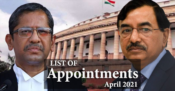 Complete List of Appointments April 2021