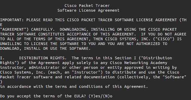 langkah langkah install cisco packet tracer di linux