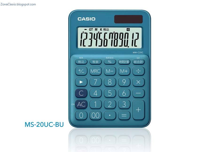Zona Casio: Nuevas mini-calculadoras y calculadoras de escritorio de ...