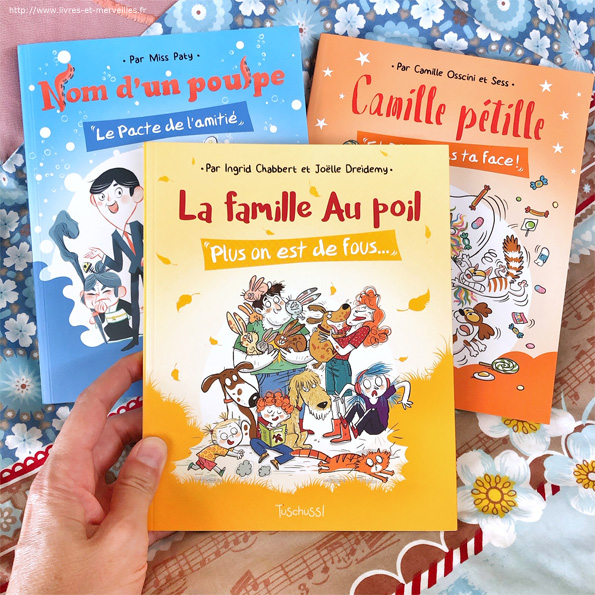 """""""La famille Au poil : Plus on est de fous..."""" d'Ingrid Chabbert et Joëlle Dreidemy"""