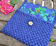 Blueberry Clutch Bag