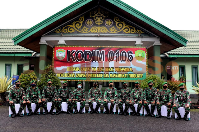 Aspers Kodam IM Menggunjungi kodim 0106 Aceh Tengah