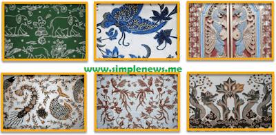 motif hias tumbuhan pada batik atau tenun lokal www.simplenews.me