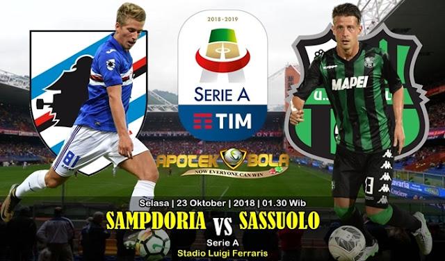 Prediksi Sampdoria vs Sassuolo 23 Oktober 2018