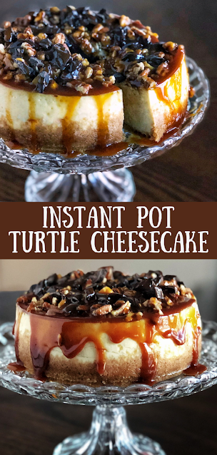 Instant Pot Turtle Cheesecake