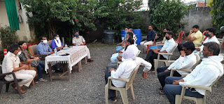खमारपानी चौकी मे शांति समिति की बैठक सम्पन्न