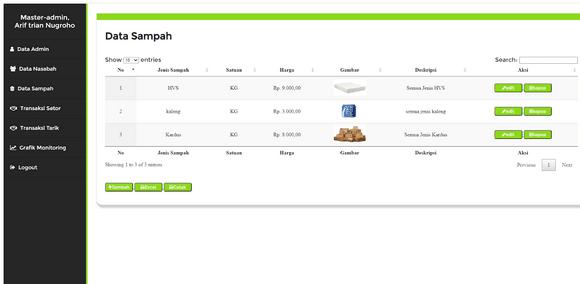 Aplikasi Sistem Informasi Bank Sampah