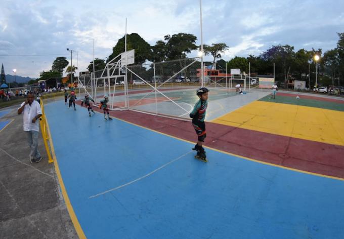 Alcaldía habilitó espacio deportivo a las afueras del estadio Manuel Murillo Toro