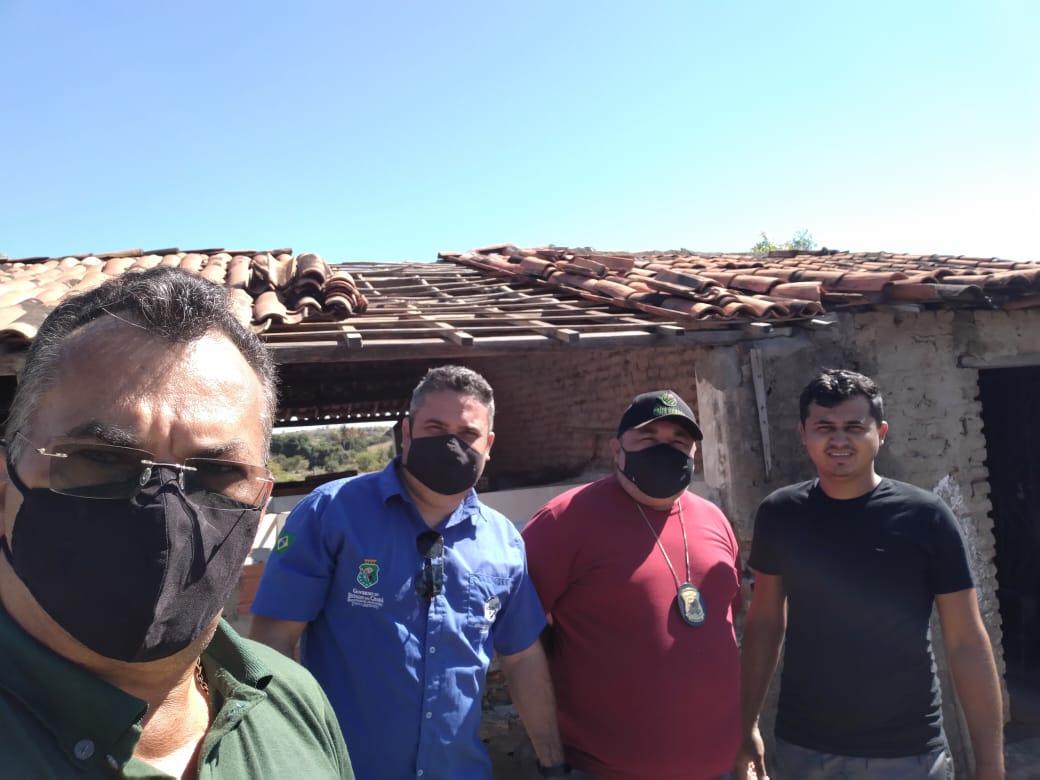 Secretário de Agricultura de Aurora e representantes da Adagri realizam visita em unidade de peixamento de alevinos no sítio Santa Cruz