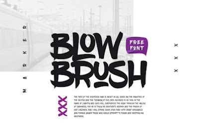 Download Font Blow Brush