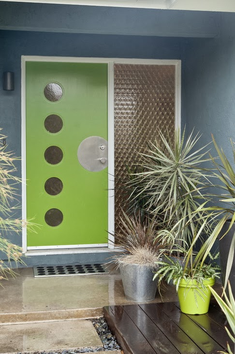 Mad For Mid Century Green Modern Front Doors