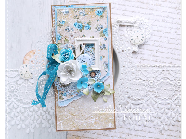 Vintage Style Card for Lemoncraft & Video Tutorial