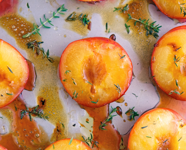 Honey Roasted Plums with Thyme and Olive Oil