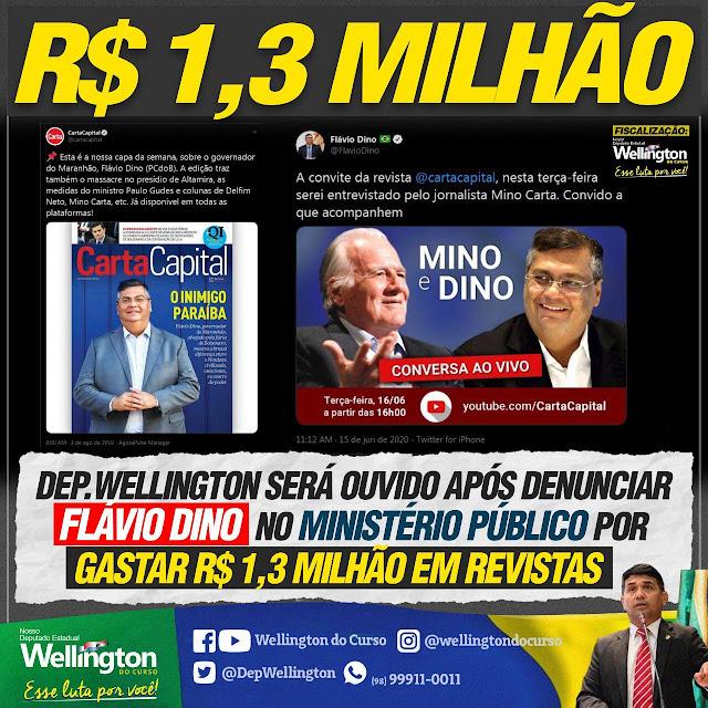Deputado do Maranhão aponta crime de R$ 1,3 milhão de Flávio Dino  em esquema de promoção pessoal