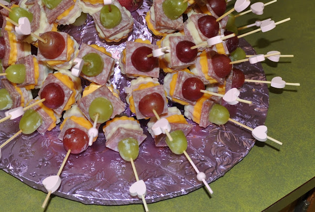 Meat and Cheese Skewers, Styrofoam Half Dome