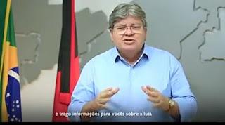 Governador João Azevedo afirma que tão logo chegue as primeiras doses da vacina contra covide-19, terá início vacinação na PB.
