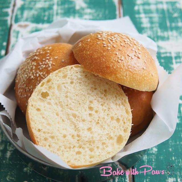 Soft Sourdough Potato Burger Buns