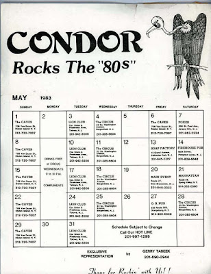 Condor club line up May 1983