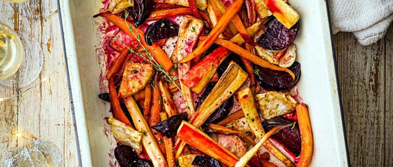 Candied root veg