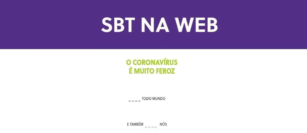Participar SBT Coronavírus Complete Frase 5 Mil Reais em Dinheiro - 10 Prêmios 500 Reais