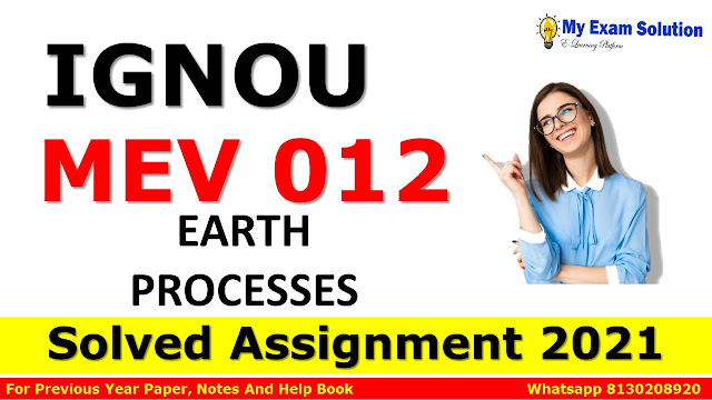 MEV 012 Solved Assignment 2021-22