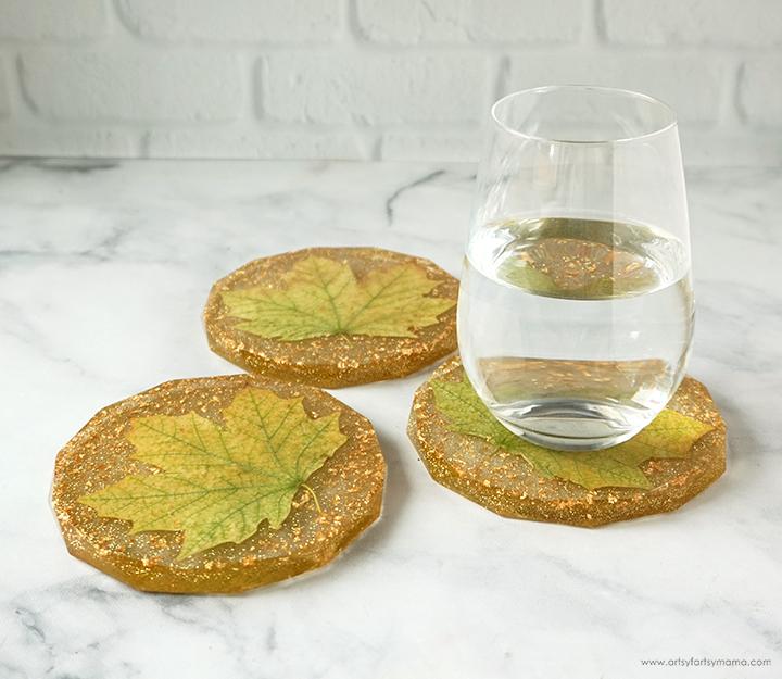 Resin Fall Leaf Coasters