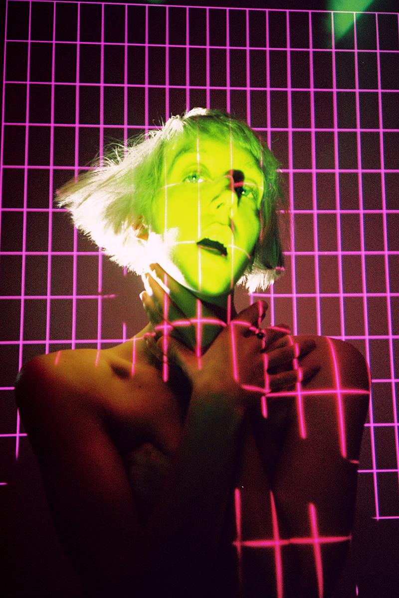"Rare DM's gliding retro electronica sci-fi proto punkery of ""send nudes"""