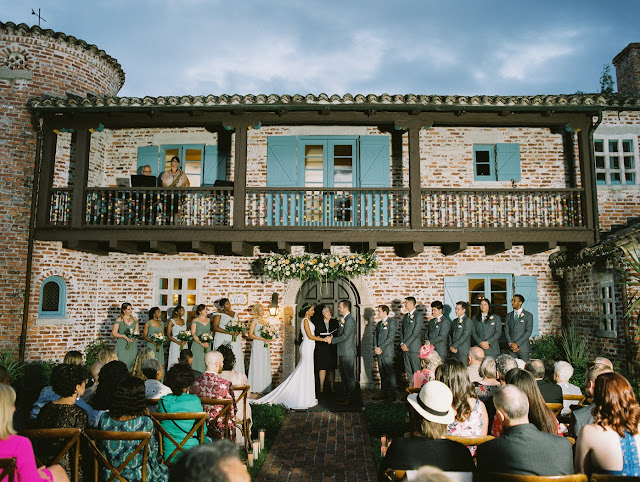 wedding ceremony at casa feliz