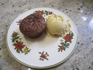 minis gâteaux Nutella, 3 ingrédients, glace vanille