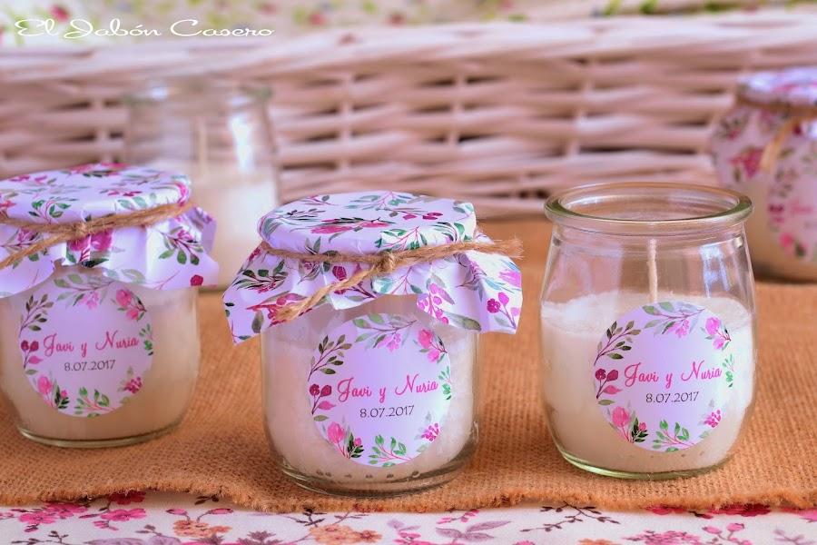 detalles para boda vintage velas perfumada