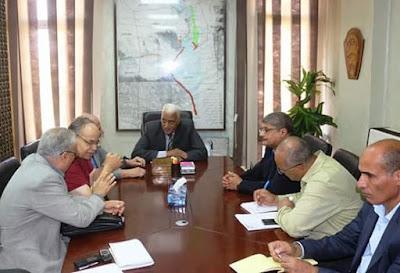 لقاء محافظ السويس ومجلس ادارة شركة مصر ايران