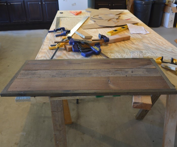 Bench top finished