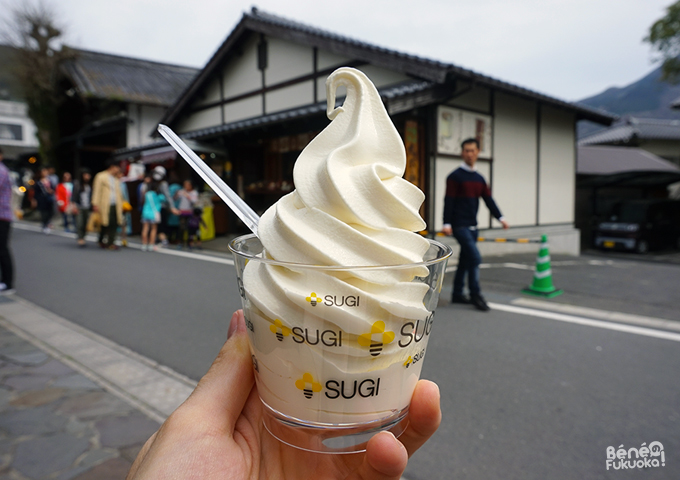 Honey soft serve, Yufuin